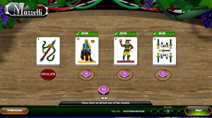Mazzeti card game sbobet